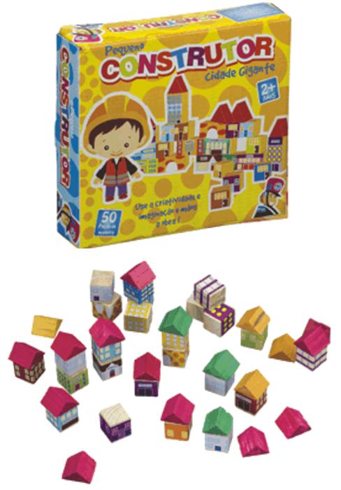 Blocos de Montar de Madeira Pequeno Construtor Cidade Gigante Brinquedo Educativo
