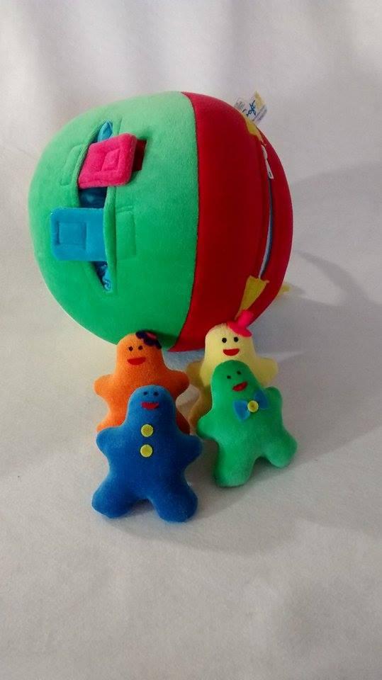 Bola Atividades Brinquedos Educativos de Pelúcia