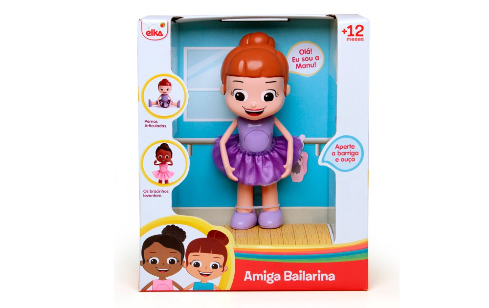 Boneca Amiga Bailarina Manu Elka
