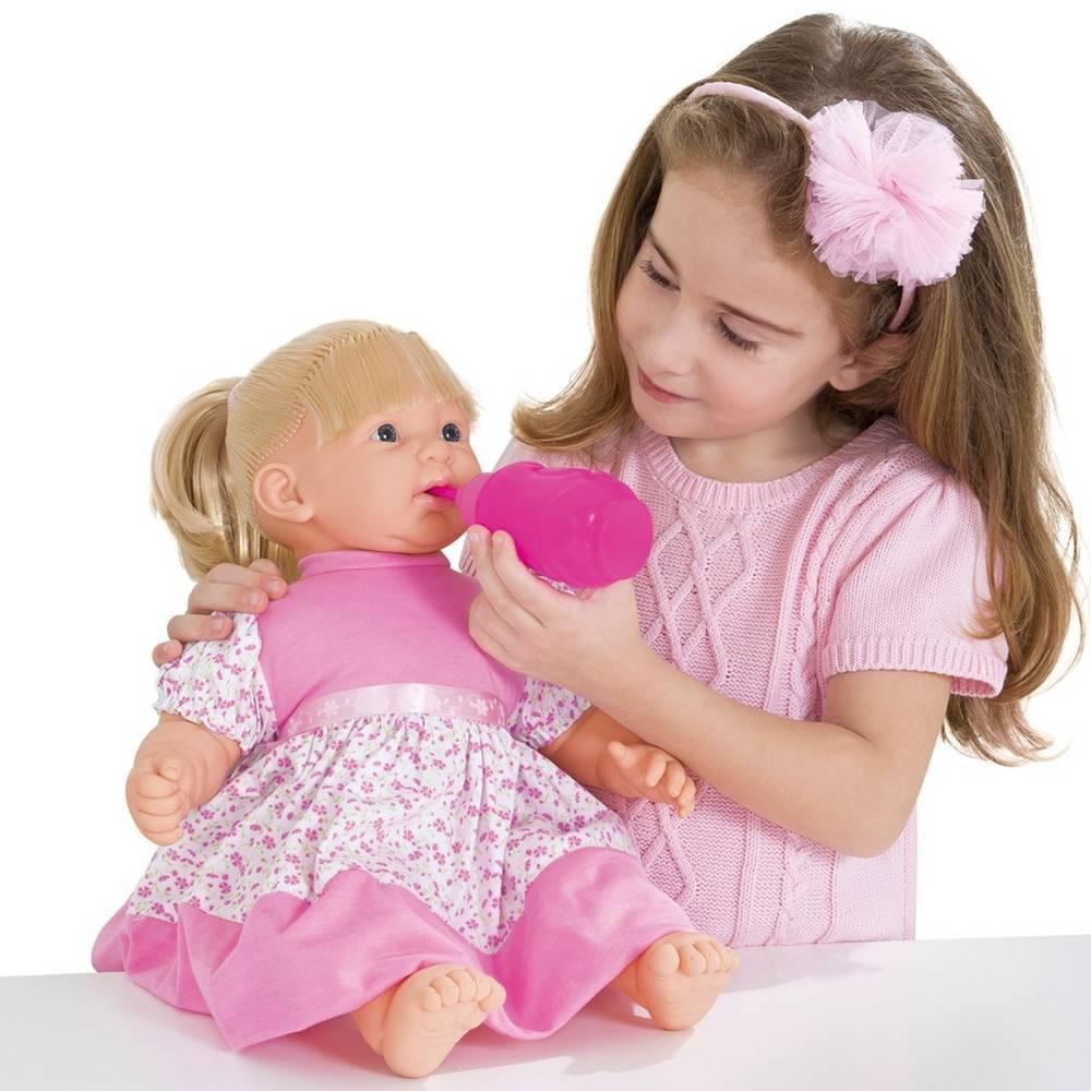 Boneca Baby Faz Xixi com Cabelo Super Toys