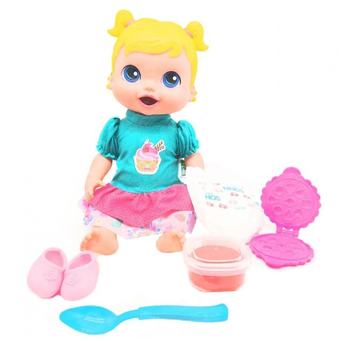 Boneca Babys Collection Comidinha