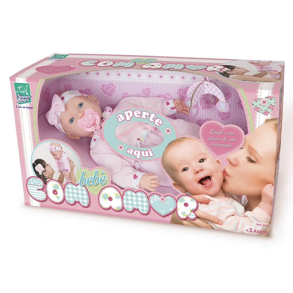 Boneca Bebê com Amor Super Toys