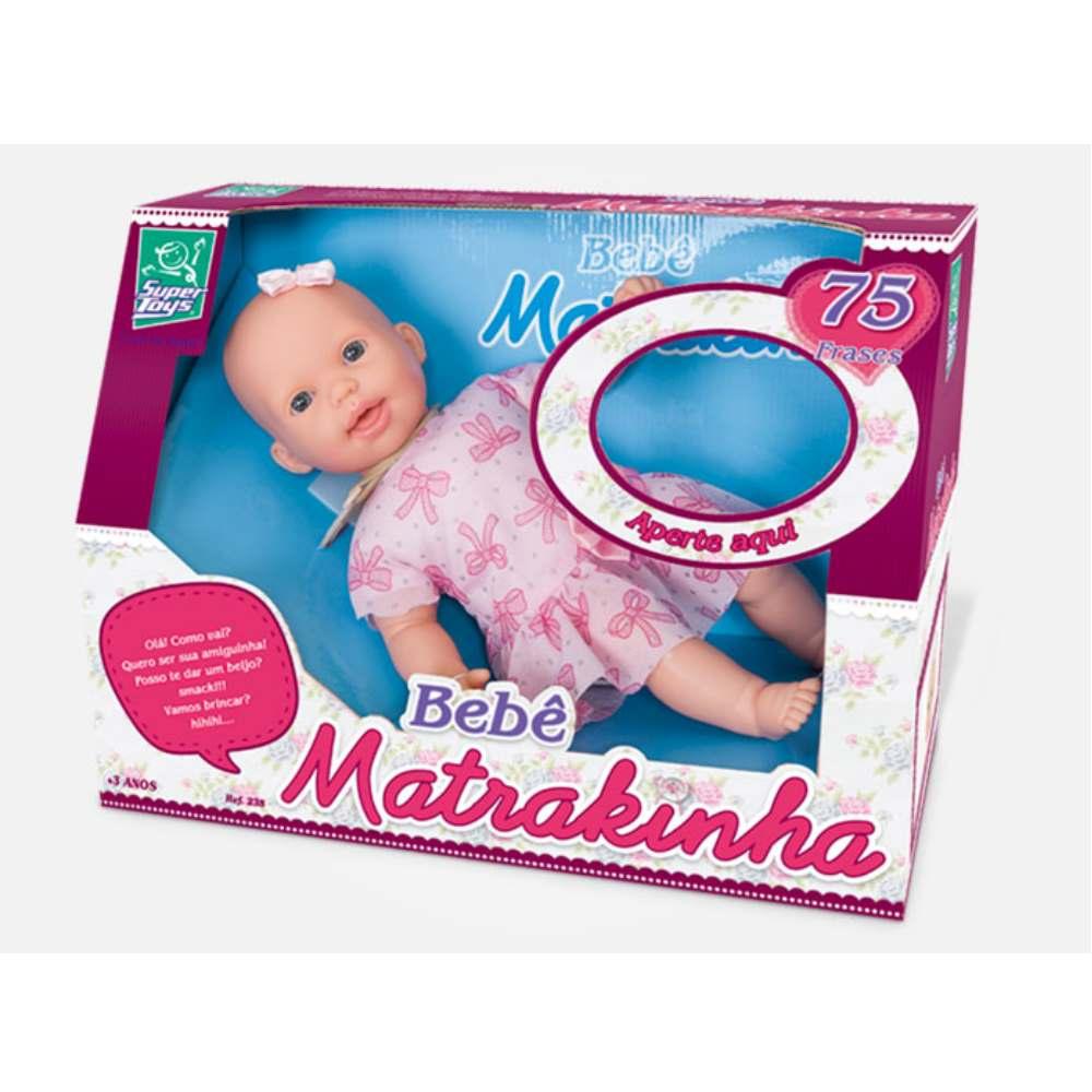 Boneca Bebê Matrakinha com Mecanismo Fala 75 Frases