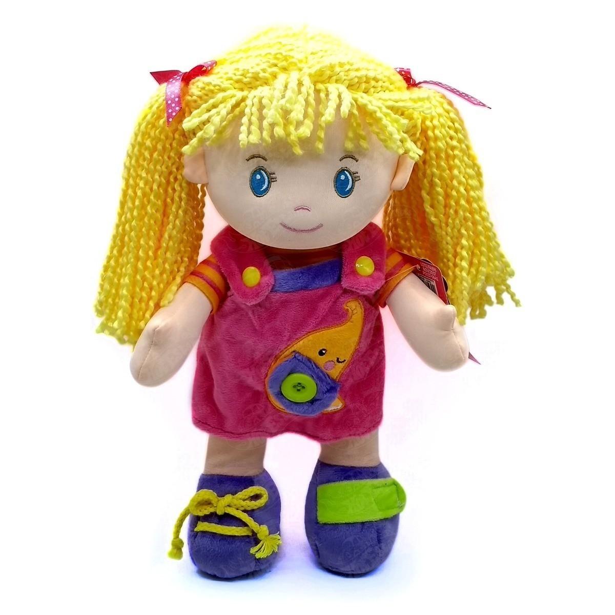 Boneca de Pano Aprendendo a Vestir Girl
