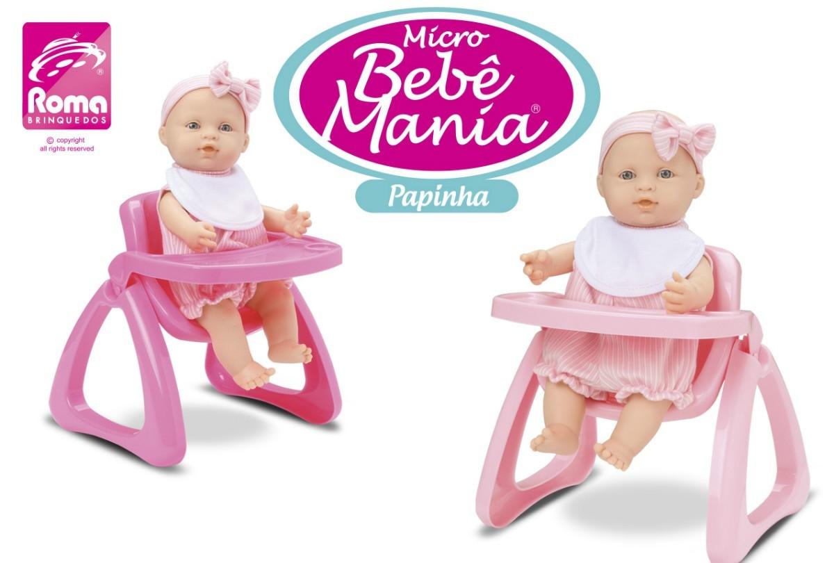 Boneca Micro Bebê Jensen Papinha Roma Jensen Cores Sortidas