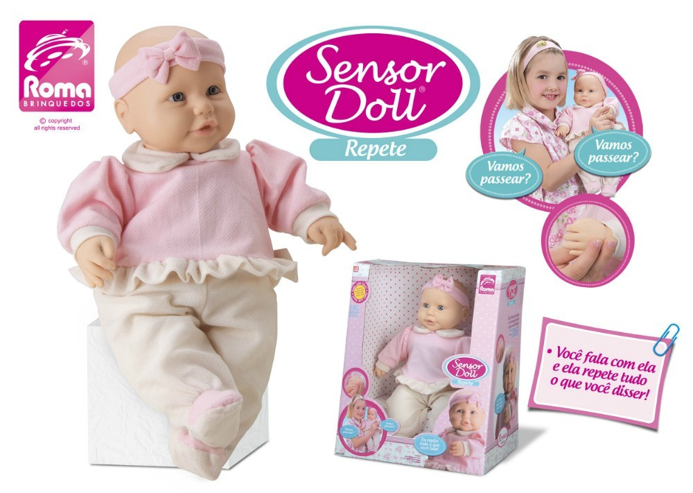 Boneca Sensor Doll Repete Roma Jensen