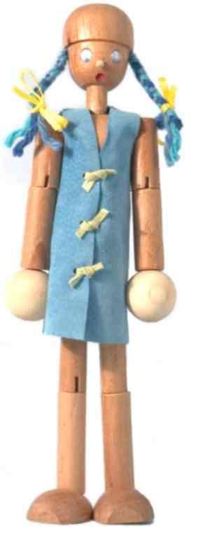 Boneco de Madeira Articulado Boneca Belita Pequena