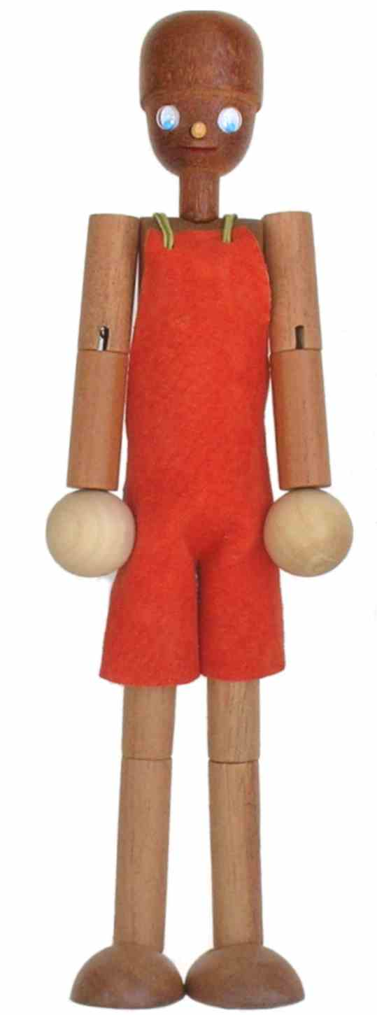 Boneco  de madeira Articulado Boneco Kikito Pequeno