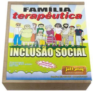 Bonecos de Madeira Miniatura Família Terapêutica Inclusão Social para casinha de boneca