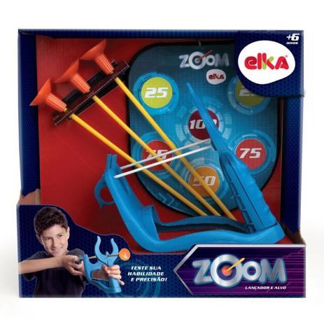 Brinquedo Arco e Flecha Zoom Lançador e Alvo