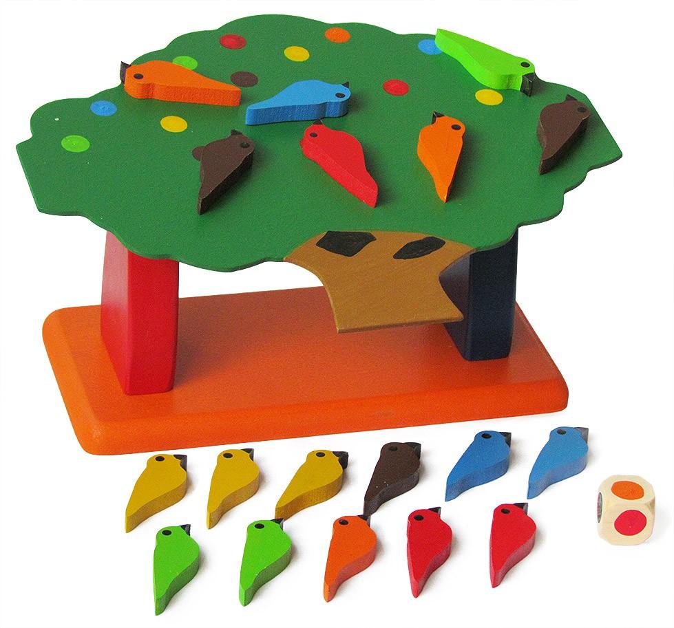 Brinquedo Artesanal de Madeira Equilíbrio e Cor