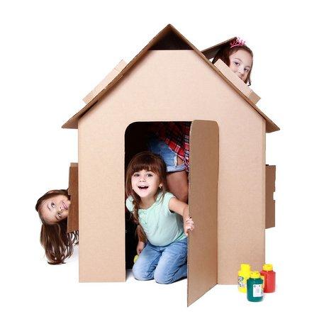 Casinha Infantil de Papelão Brinquedo Educativo