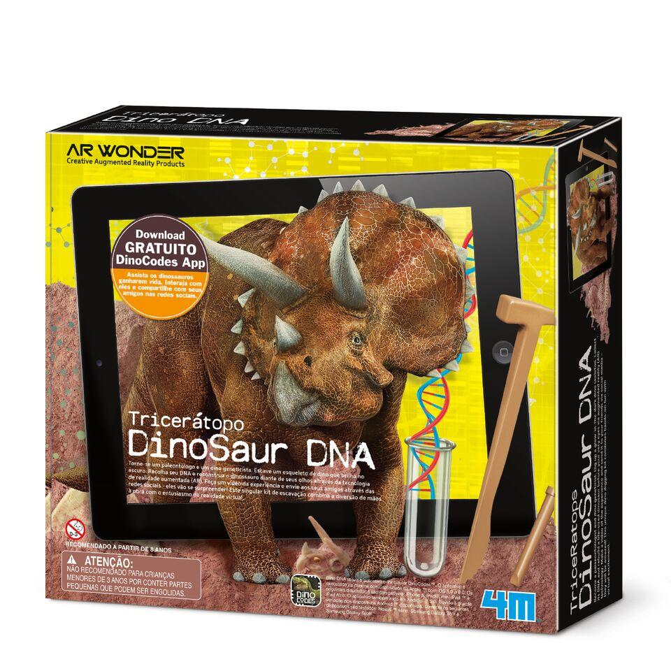 Brinquedo Cientifico Kit de Escavação Tricerátopo Dino DNA