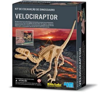 Brinquedo Científico Kit Escavação de Esqueleto Velociraptor