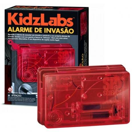 Brinquedo Científico Robótica Kit Alarme de Invasão