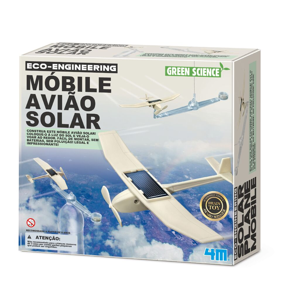 Brinquedo Científico Robótica Móbile Avião Solar