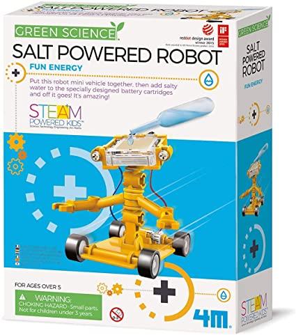 Brinquedo Científico Robótica Robô de Água Salgada
