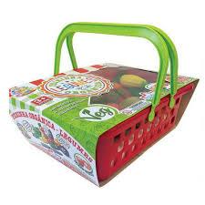 Brinquedo Crec Crec Feirinha Orgânica Frutas Comidinhas de Plástico