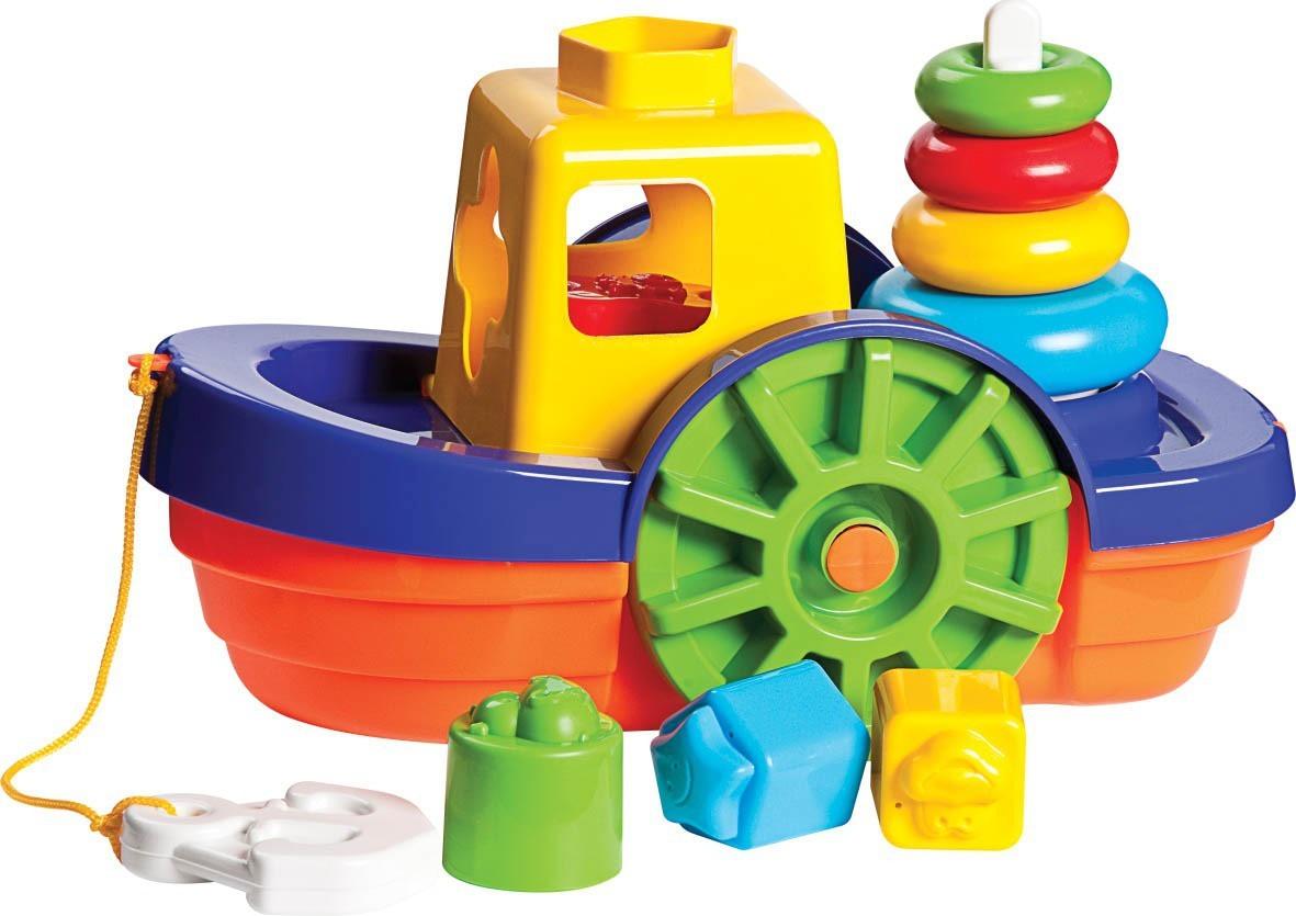 Brinquedo de Areia Barco Didático