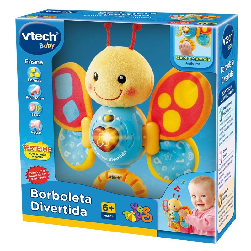 Brinquedo de Atividades Borboleta Divertida com som e luz
