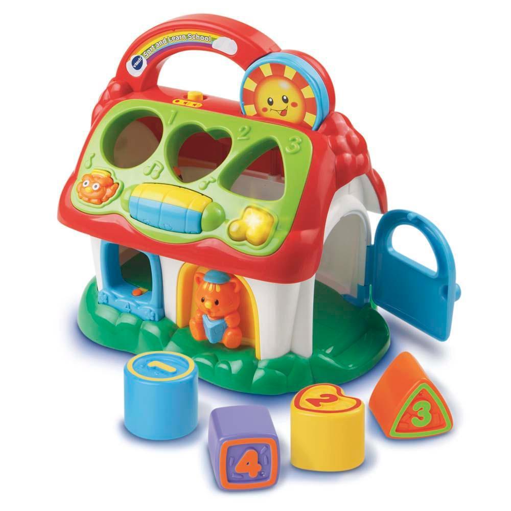 Brinquedo de Atividades de encaixe Escolinha de Formas