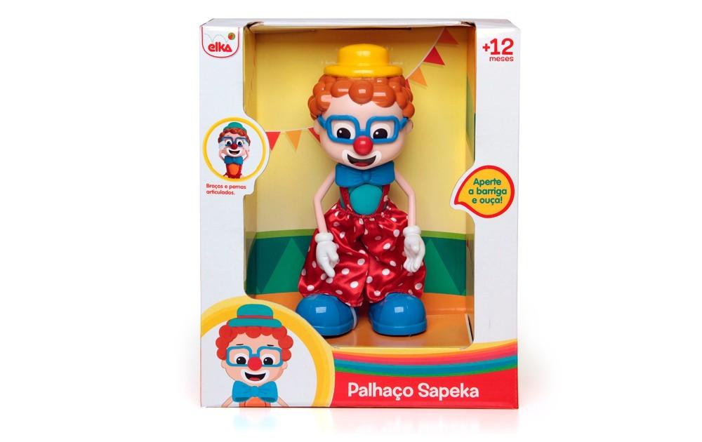 Brinquedo de Atividades Palhaço Sapeka Elka