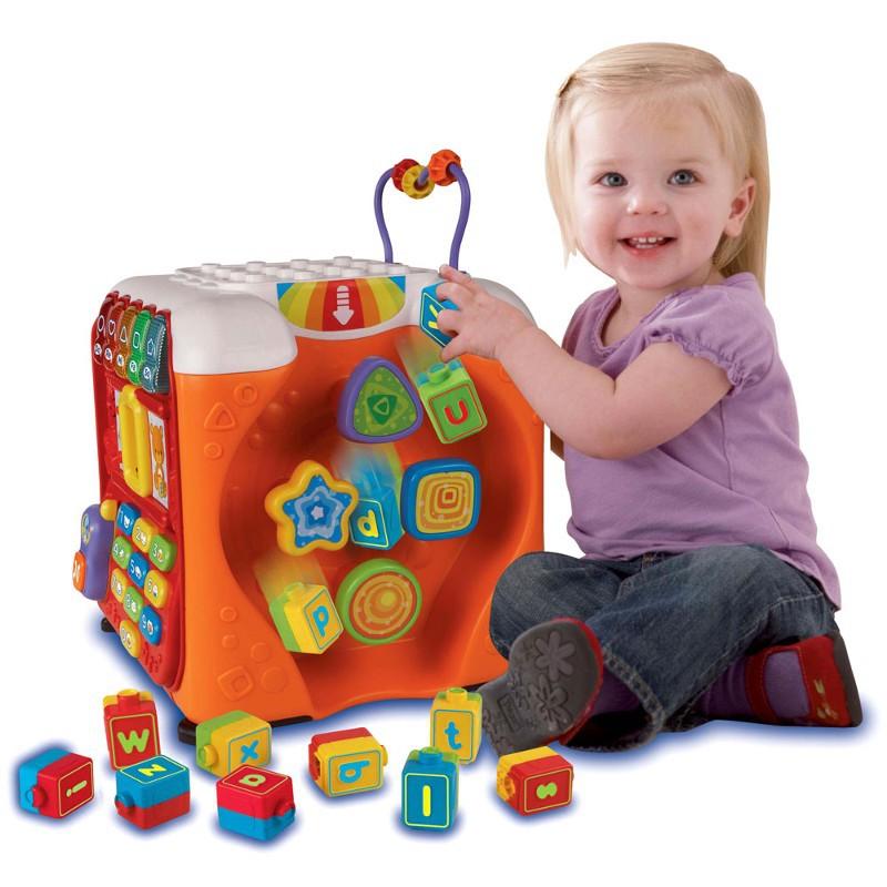 Brinquedo de Atividades Super Cubo de Descobertas com Som