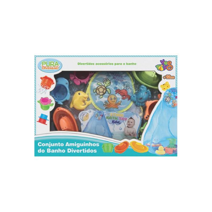 Brinquedo de Banho Conjunto Amiguinhos do Banho Divertidos Pura Diversão