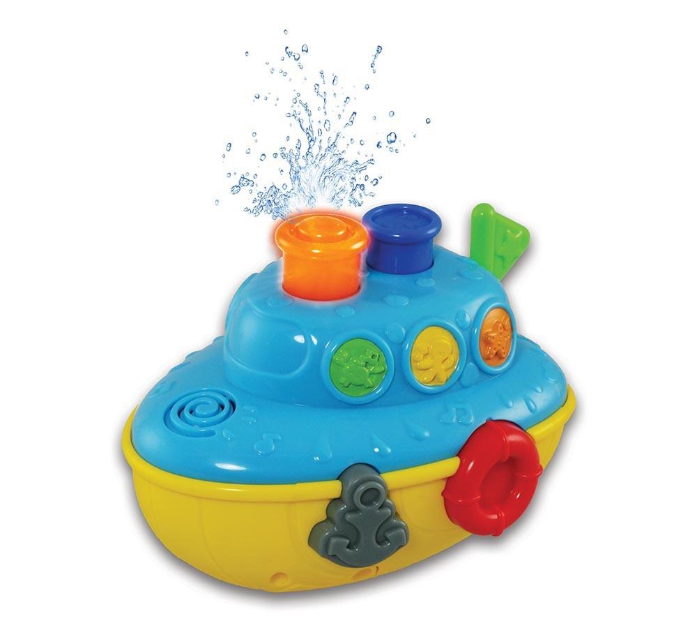 Brinquedo de Banho Diversão Aquática Barco Musical