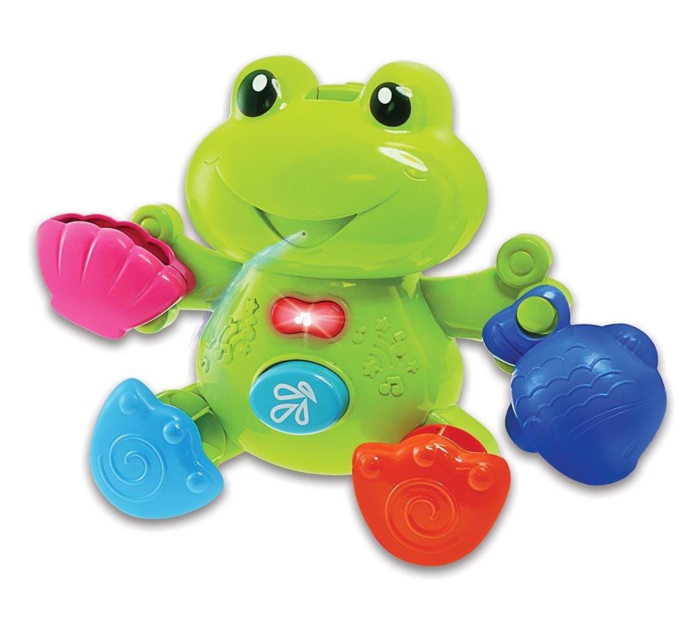 Brinquedo de Banho Diversão Aquática Sapo Musical