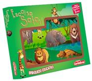 Brinquedo de Educativo de Madeira de Encaixar Encaixe Safari