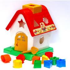 Brinquedo de encaixar Casa das Formas