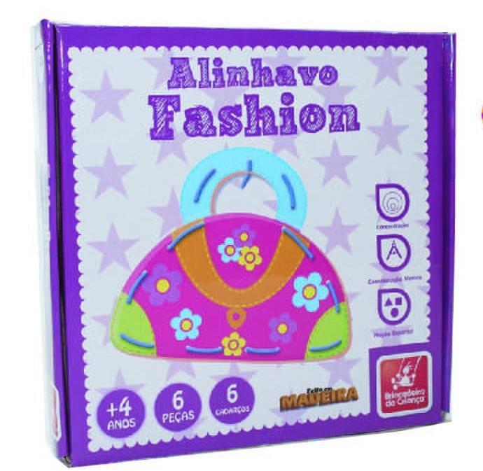 Brinquedo de Madeira Alinhavo Fashion