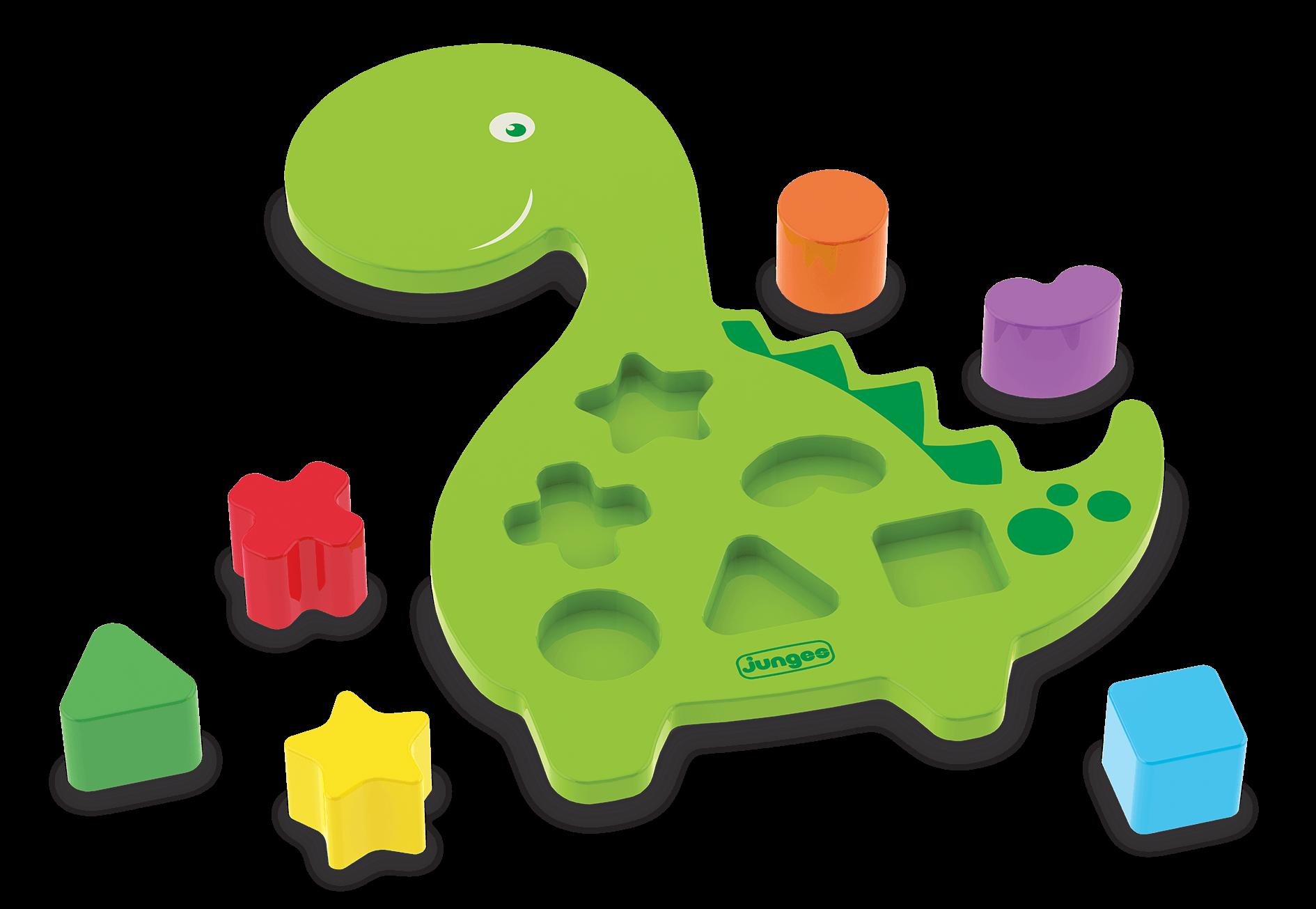 Brinquedo de Madeira Animais Didáticos Dino