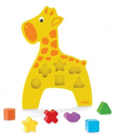 Animais Didáticos Girafa Brinquedo Educativo de Madeira