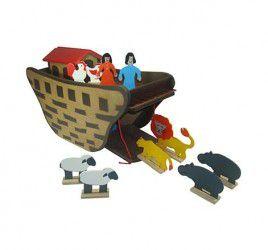 Arca de Noé Brinquedo Educativo de Madeira