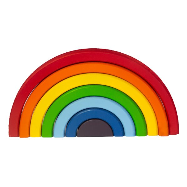 Arco Íris Brinquedo Educativo de Madeira