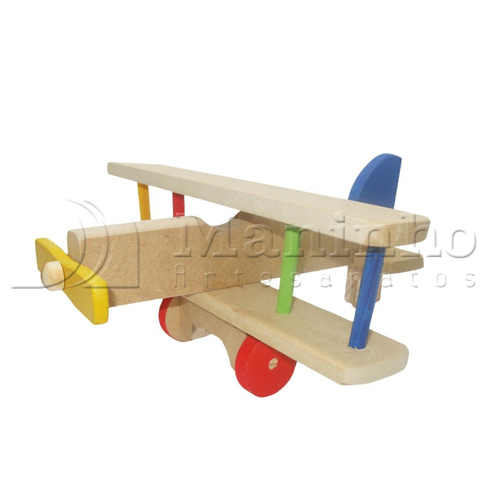 Brinquedo de Madeira Avião G