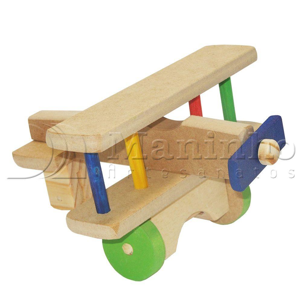 Avião P Brinquedo de Madeira