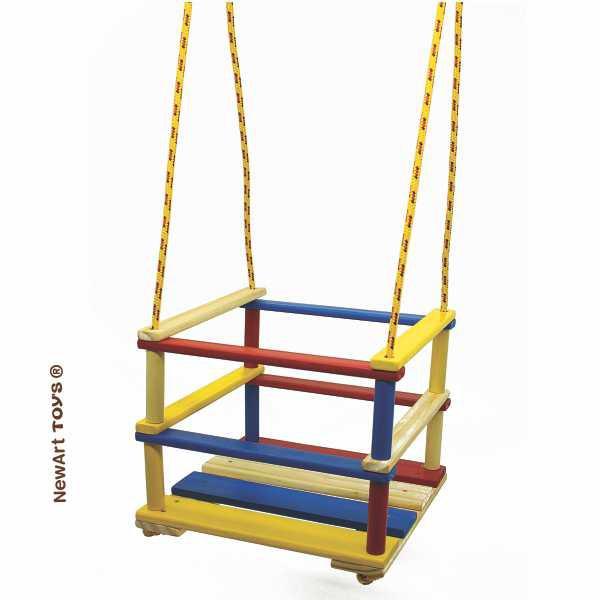 Brinquedo de Madeira Balanço Cadeirinha com Grade