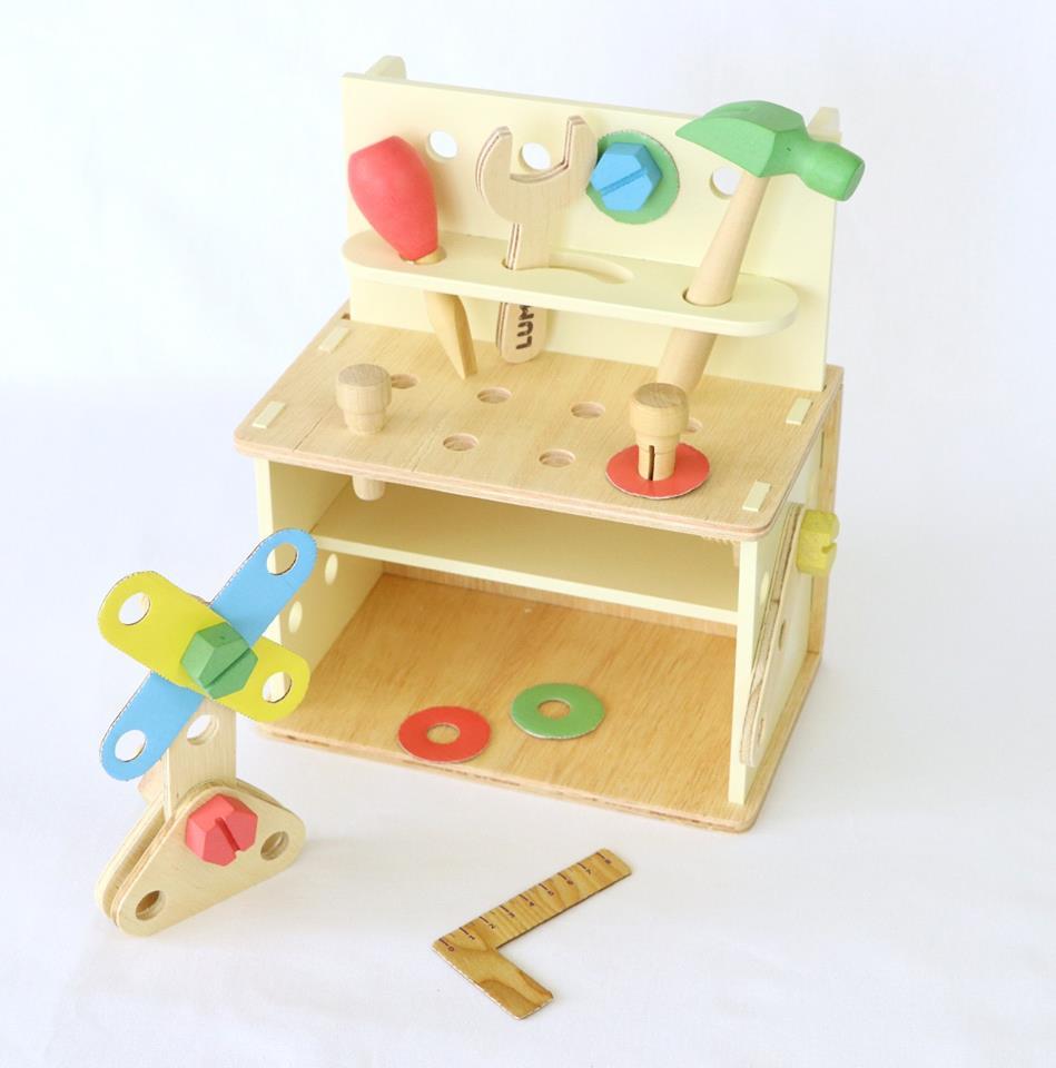 Bancada de Ferramentas  Inventando e Consertando Brinquedo de Madeira