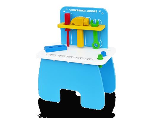 Bancada de Ferramentas Júnior Brinquedo Educativo de Madeira