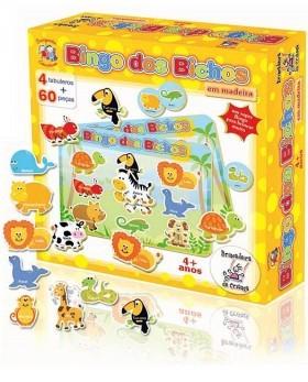 Brinquedo de Madeira Bingo dos Bichos
