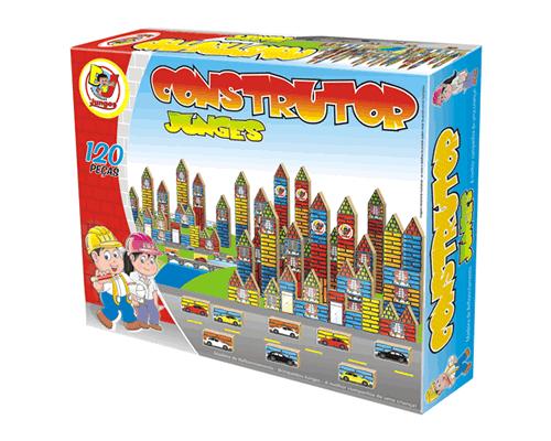 Blocos de Montar Construtor 120 Peças Brinquedo de Madeira