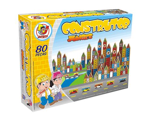 Brinquedo de Madeira Blocos de Montar Construtor 80 Peças