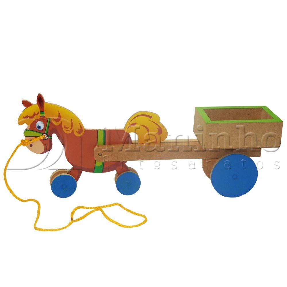Brinquedo de Madeira Carroça