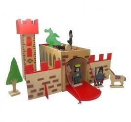 Castelo Medieval Brinquedo de Madeira