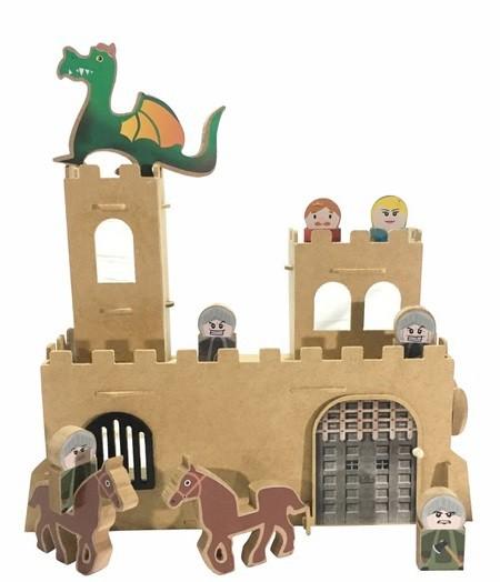 Brinquedo de Madeira Castelo Medieval