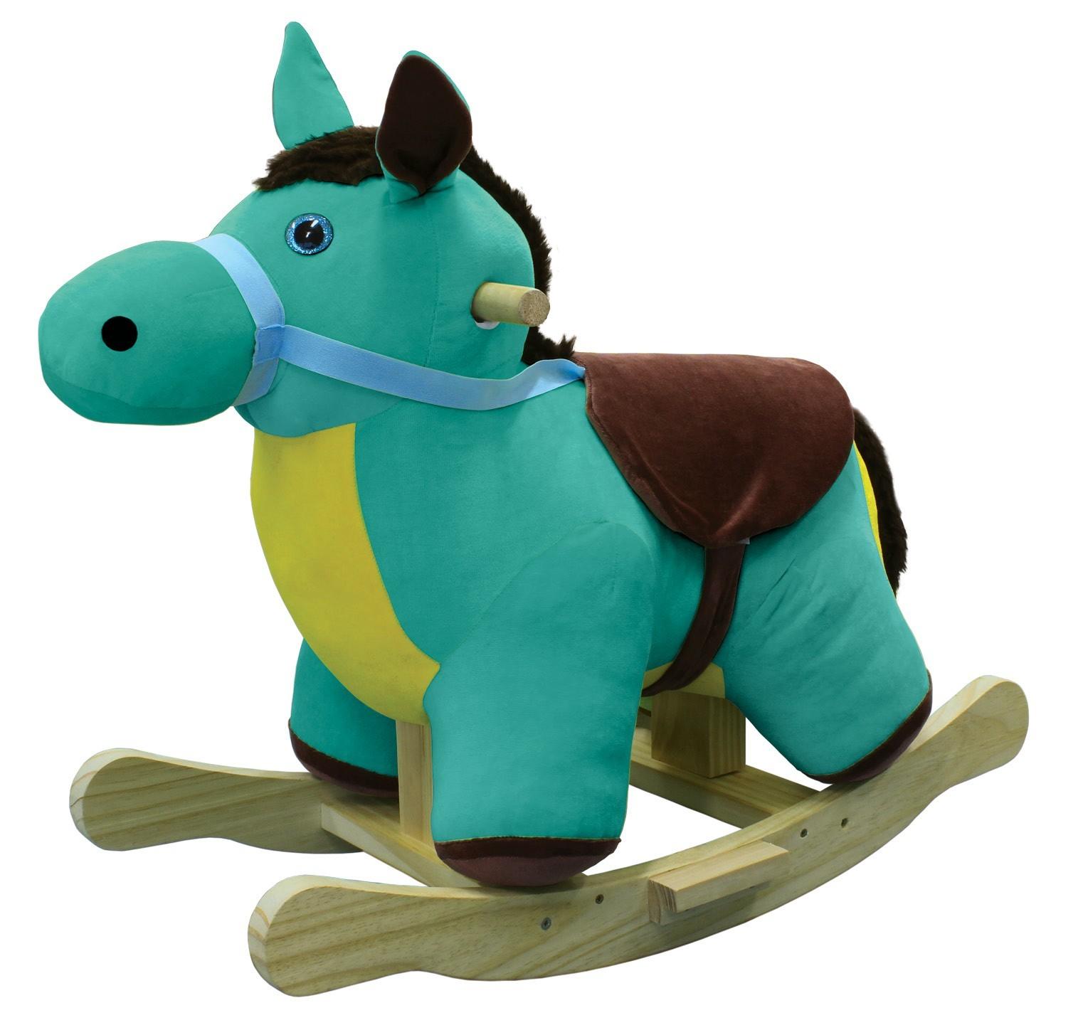 Brinquedo de Madeira Cavalo de Balanço em Tecido