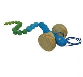 Brinquedo de Madeira Cobrinha Articulada Sortida